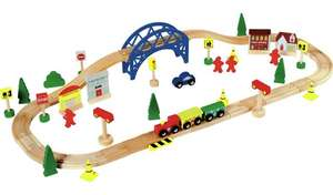 Chad Valley Wooden Train Set 60 Pieces £12.00 @ Argos (Free Click & Collect)