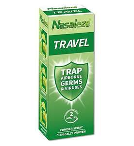 Nasaleze Travel Barrier Spray 800mg £8.95 with Free Click and collect @ Boots