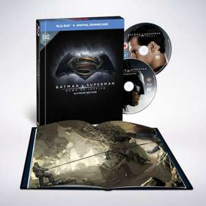 Batman Vs Superman Dawn Of Justice Ultimate Edition Film-Book + Blu-Ray £7.19 With Code / Otherwise £7.99 Delivered @ Warnerbros