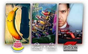 Humble Choice March: 3 Games for £11.99, 9 for £15.99 (10 for Humble Classic subscribers): My Friend Pedro, Planet Coaster, F1 2019 and more