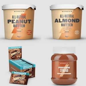 45% + Free Delivery on Bars, Foods and Snacks - EG 1KG Peanut Butter £3.56 / Protein Chocolate Spread £3.29 - Using Code @ MyProtein