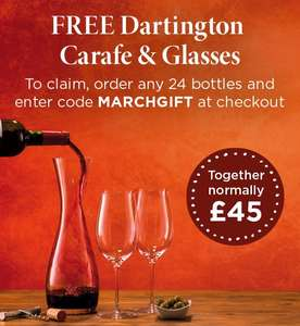 Free decanter and glasses with 24 bottles of wine from Laithwaites with code (with extra 30% cashback possible)