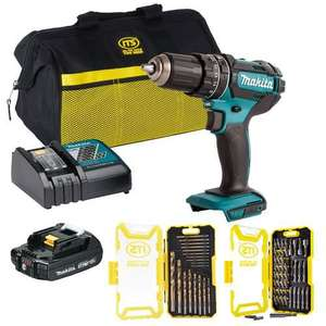 MakitaDHP482PACK18v LXT Combi Drill with 1 x 2Ah Battery, Charger, Bag and Accessories £95.99 @ ITS