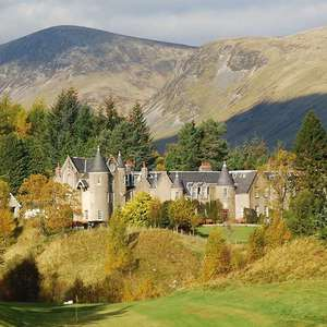 Overnight stay Dalmunzie Castle Hotel Glenshee Scotland with breakfast for 2 people + whisky + late checkout £53.10 with code @ Travelzoo