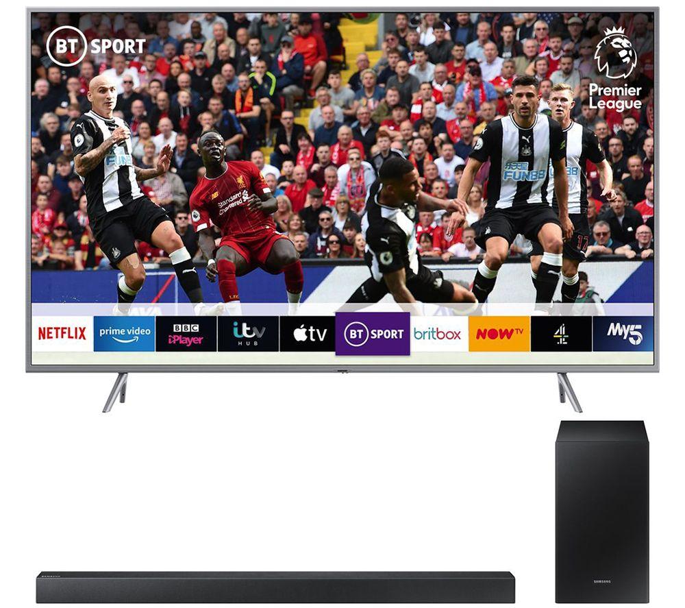 "Samsung QE55Q70R & HW-R450 55"" 4K Ultra HD HDR 1000 Smart QLED TV with Apple TV app Freesat HD & 2.1 Soundbar £789 with code @ Richer Sounds"