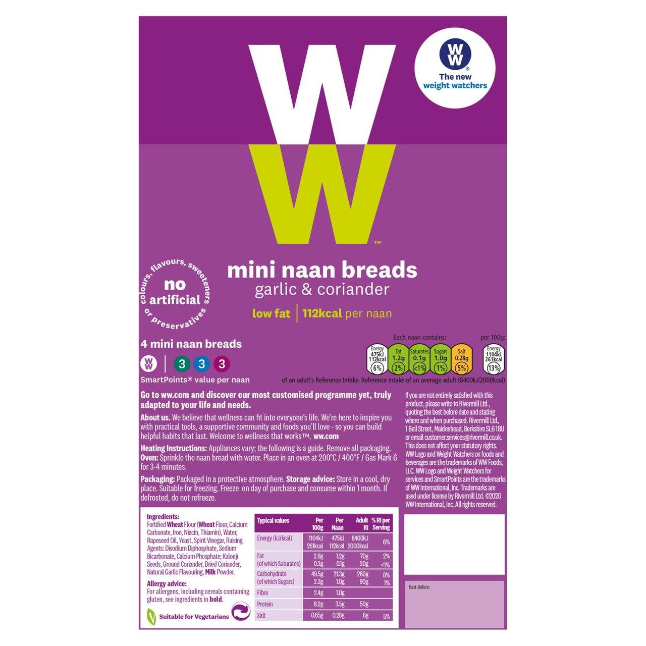 4 x Mini WeightWatchers Naan Breads 59p instore @ Heron Wolverhampton