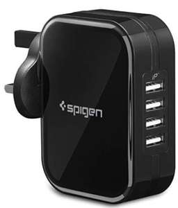 Spigen Universal USB Charger - 34W, 6.8A, 4-Port Wall Charger with iP Tech £6.99 (+£4.49 Non Prime) Sold by Spigen and Fulfilled by Amazon