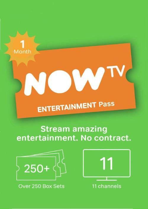 NOW TV - 1 Month Entertainment Pass £2.99 / Cinema Pass £3.49 @ CDKeys
