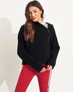 Asymmetrical Polar Fleece Hoodie £7.19 & free delivery (£6.47 with student discount) @ Hollister