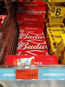 Budweiser beer 18 cans for £11 @ Aldi in Swindon