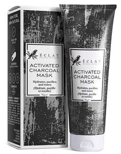 PREMIUM Charcoal Face Mask Activated Peel-Off Bamboo Mask For Blackhead Removal. £2.98 + £4.49 NP @ Eclat Beauty Fulfilled by Amazon