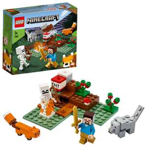 LEGO 21162 Minecraft The Taiga Adventure Building Set with Steve, Wolf and Fox Figures - £8.50 (+£4.49 Non-Prime) @ Amazon