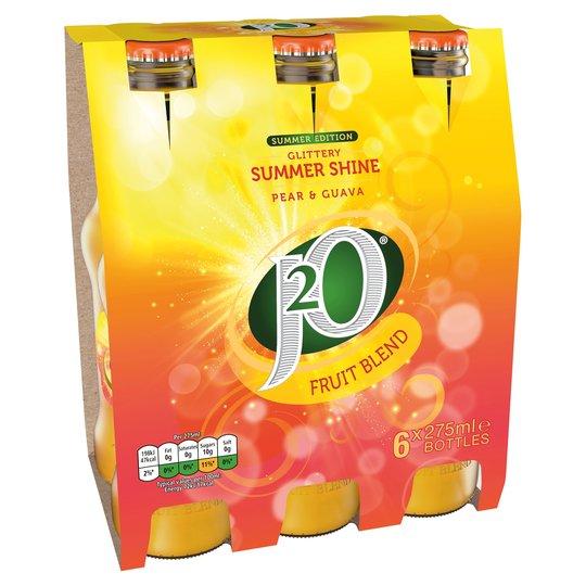 New Summer Edition J2O - Glittery Summer Shine - Pear & Guava - 6 X 275ml - £3 @ Tesco
