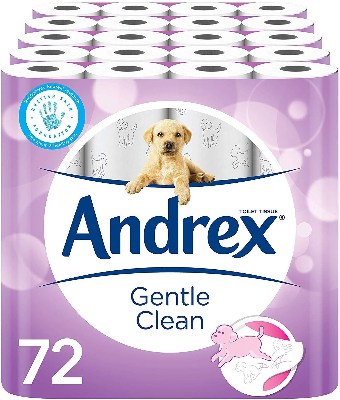 Andrex Gentle Clean Toilet Tissue, 72 Rolls - £27 @ Amazon