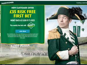 £35 RISK FREE BET with code @ Paddy Power - New Customers
