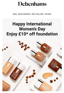 All Clinique foundation £10 off at Debenhams (from £16)