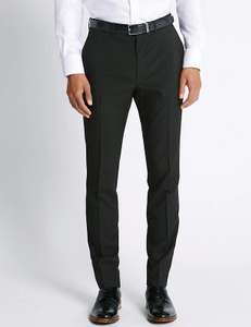 "Mens / Tall Teens Slim Fit 35"" leg trousers now £5 (Free Click & Collect) at Marks & Spencer, On-line only"