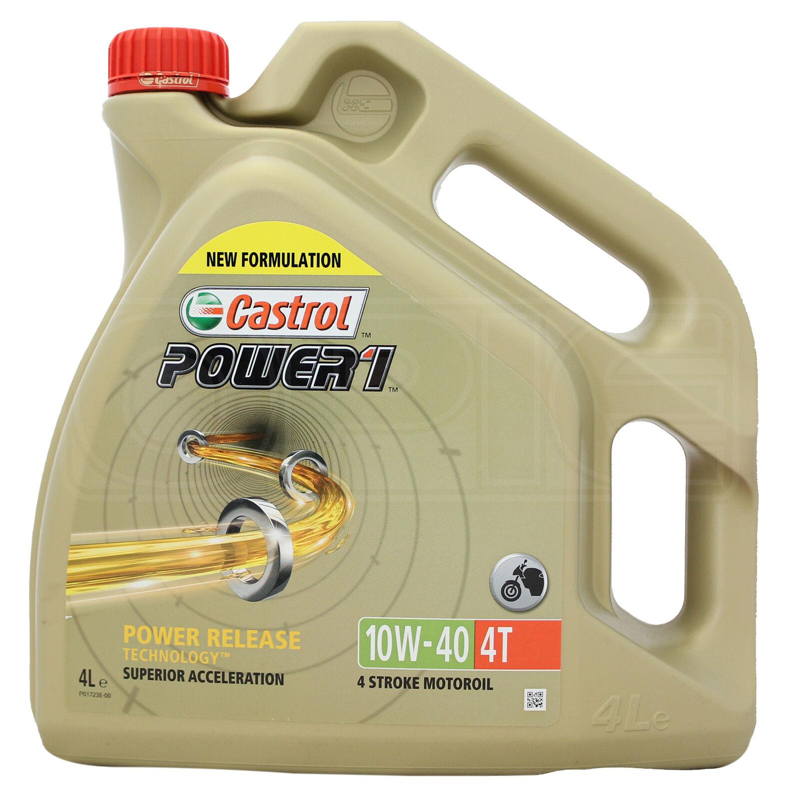 Castrol Power 1 4T 10w-40 Motorcycle 4 Stroke Engine Oil 10W40 4 Litre 4L £25.24 @ ebay / opieoils