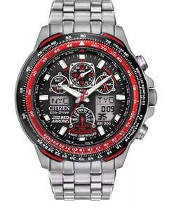 Citizen Eco-Drive Red Arrows Skyhawk Radio Controlled Titanium Bracelet Watch £351 at The Watch Hut