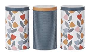 Argos Home Apartment Apparel Storage Tins - 3 Pack - £5 + Free Click & Collect @ Argos