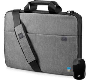 "HP 15"" Signature Slim Topload Laptop Case + Wireless Mouse Bundle - Grey, £17.99 at Currys PC World Free click and collect"