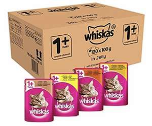 Whiskas 1+ 100 g (Pack of 120) £21.37 S&S @ Amazon