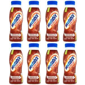 Weetabix On The Go Chocolate Breakfast Drink, 250 ml, Pack of 8 £6.67 + £4.49 non Prime at Amazon