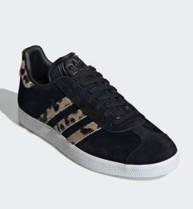 Adidas Gazelle with Leopard (pony) fur stripes £39.18 + £3.99 with code at Adidas Shop