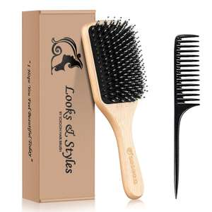 Sosoon Boar Bristle Paddle Hairbrush & Tail Comb £8.47 (Prime) / £12.96 (non Prime) Sold by SosoonDirectUK & FB Amazon