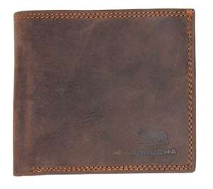 MORUCHA Mens Genuine Distressed Hunter Leather RFID Billfold Wallet M20 £12.81 / £17.30 (non Prime) Sold by WALLETS KING & FB Amazon.