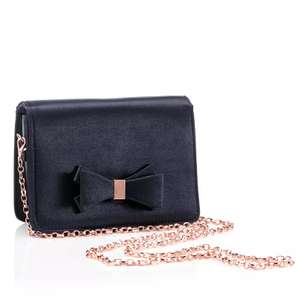 Debut Navy Bow Cross-Body Bag now £7.20 click & collect @ Debenhams