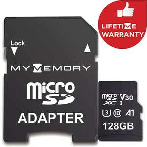 MyMemory 128GB V30 PRO Micro SD (SDXC) A1 UHS-1 U3 + Adapter - 100MB/s (Life time Warranty) for £12.99 / 2 for £25 - Delivered @ Mymemory