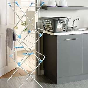 Minky 3 Tier Concertina Indoor Airer with 15m Drying Space - Metal White £12.50 (Free click and collect) @ Dunelm