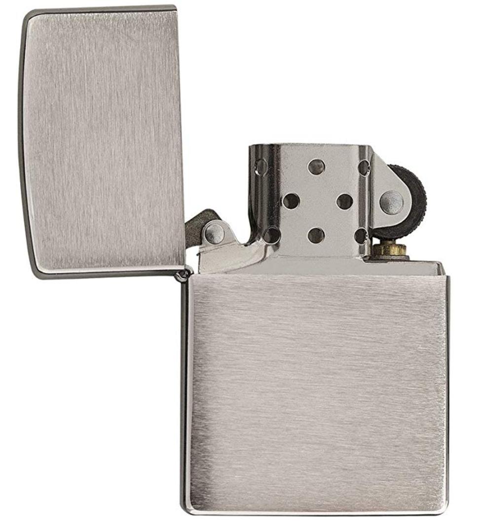 Zippo Brushed Chrome Lighter, £9.95 at wilsoncophoto / eBay
