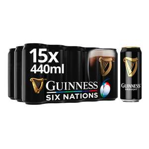 Guinness Draught Cans 15 x 440ml £10 @ Morrisons