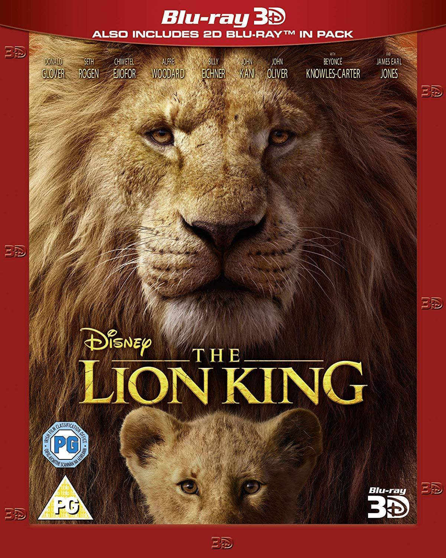 Disney's The Lion King [Blu-ray 3D] [2019] [Region Free] (or 2 for £18) £12 (Prime) £14.99 (Non Prime) @ Amazon