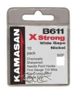 Kamasan Hooks Size: 22, Type: Barbless(80p a pack) £5.79 delivered @ Angling Direct