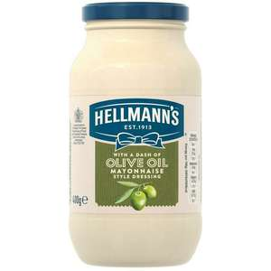 Hellmann's Mayonnaise Style Dressing with Olive Oil 400g - 69p @ Fulton Foods