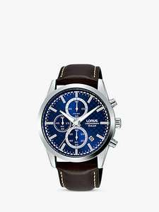 Lorus RM397FX9 Men's Chronograph Date Leather Strap Watch £30 at John Lewis and Partners