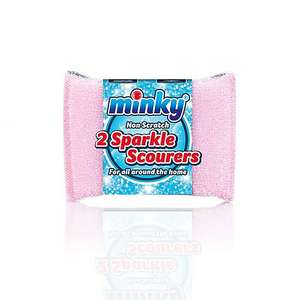 Minky Non Scratch Sparkle Scourers Pack of 2 - 75p Free Click & Collect at Dunelm