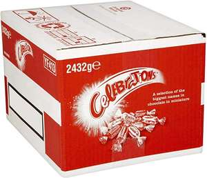 Celebrations Chocolate Bulk Case, 2.432 kg £19.99 + £4.49 NP or £13.99 with s&s + 25% voucher for first S&S delivery @ Amazon