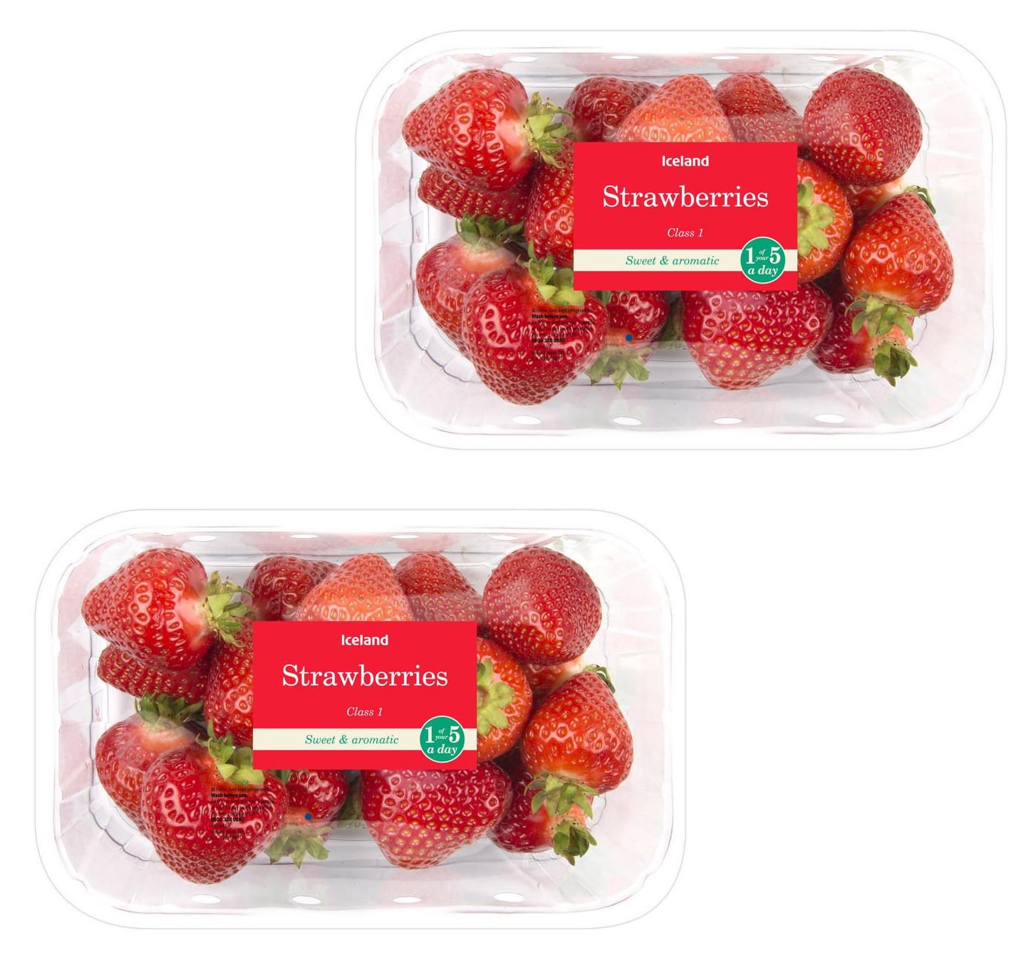 Strawberries 400g - 2 packs (800g) for £3 @ Iceland