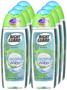 Right Guard Women Coconut Water Shower Gel, 250 ml - Pack of 6 for £6 prime / £10.49 nonPrime / £5.70 with S&S Amazon
