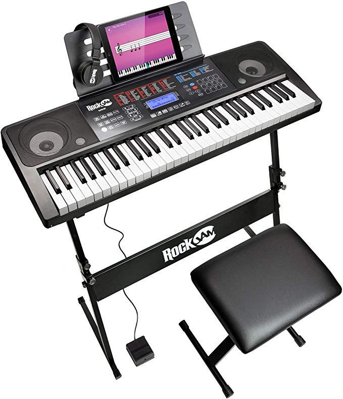 RockJam RJ761 61 Keyboard Piano Kit £86.84 Amazon