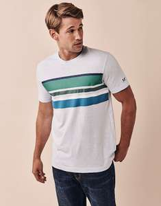 Up to 50% off Crew Clothing Sale Austell Limited Edition Striped T-shirt £12.00 with Free Click and collect