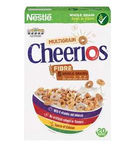 Cheerios 600g pack £1.65 Tesco