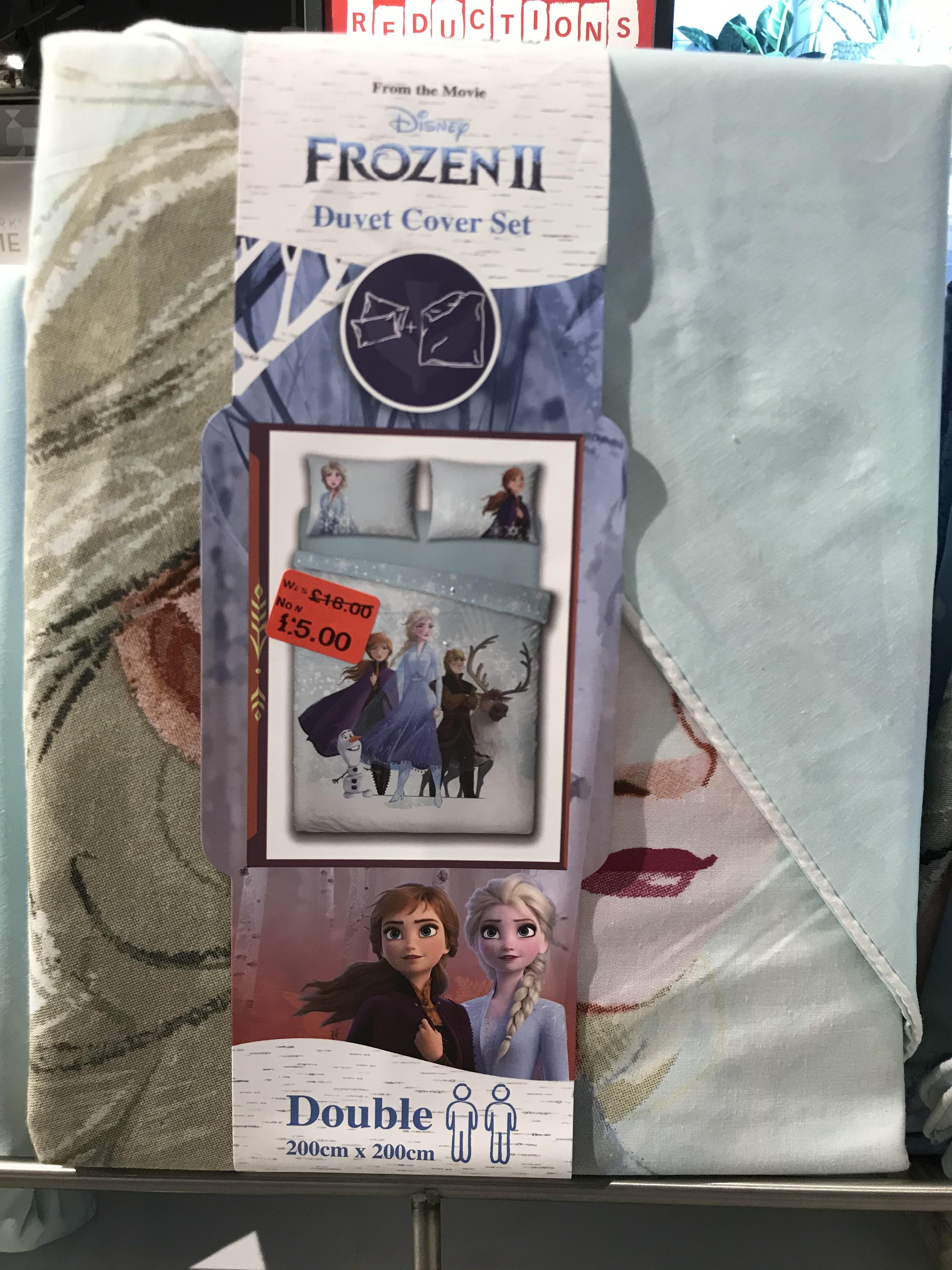 Frozen 2 Double/King Duvet Set £5 @ Primark Merry Hill