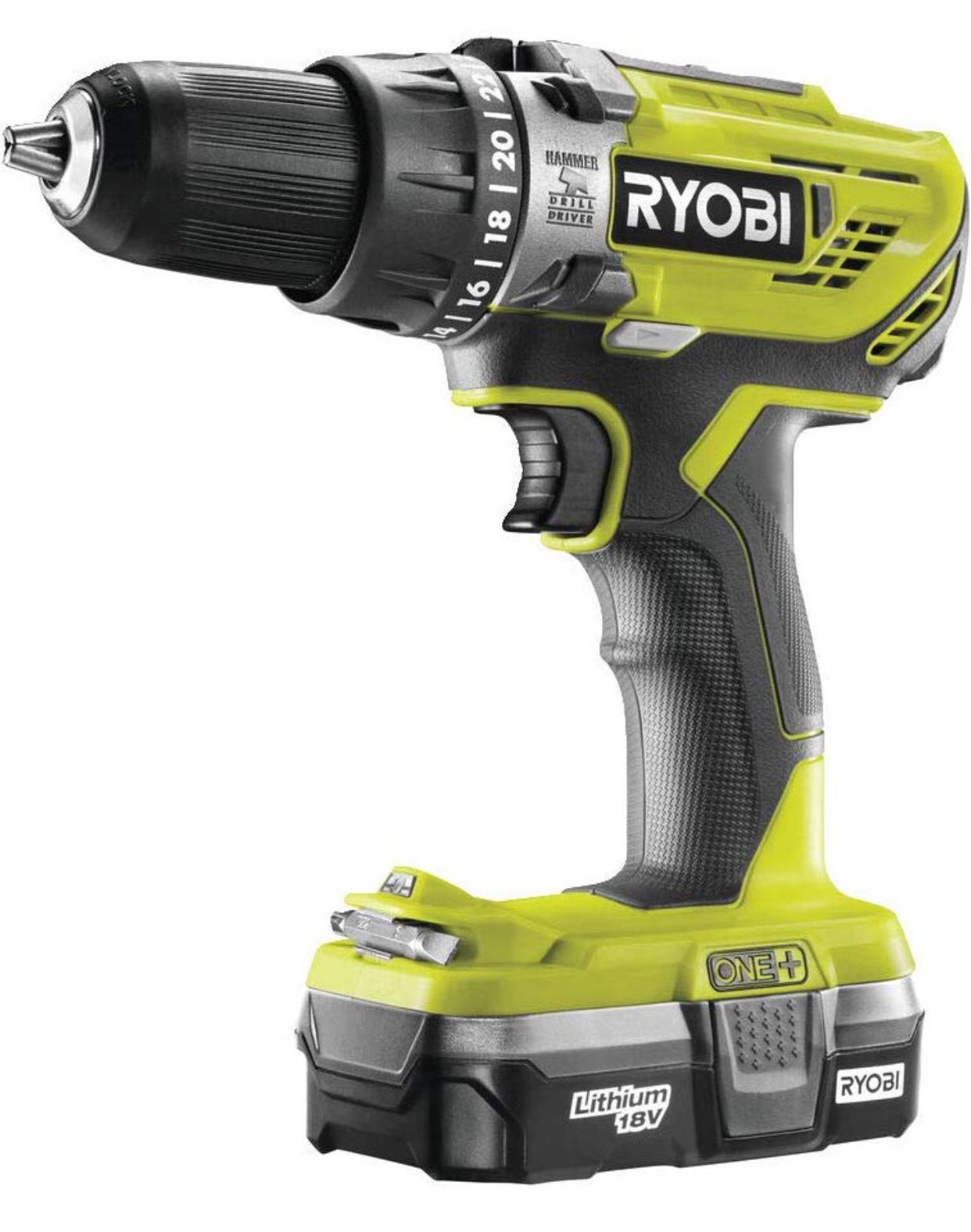 Ryobi R18PD3-113G 18 V ONE+ Cordless Combi Drill Starter Kit (1 x 1.3 Ah) £67.99 at Amazon