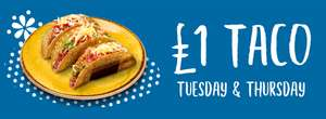 Tacos £1 Tuesday / Thursday) @ Chiquito