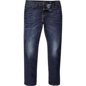 River Island - Big and Tall dark blue Dylan slim fit jeans - £15 (Free Click & Collect)